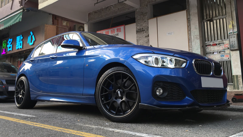 "BMW F20 1 Series with 18"" BBS CH-R Satin Black"
