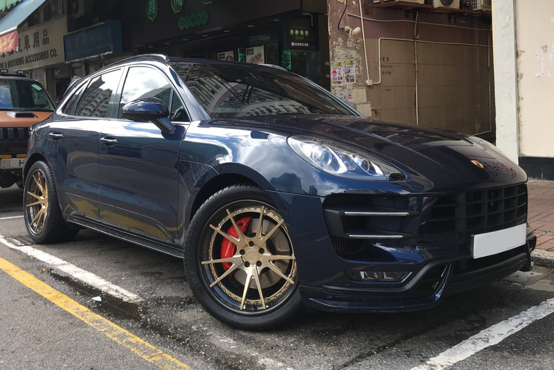 "Porsche Macan Turbo with 21"" Modulare Wheels S31 and wheels hk and 呔鈴"