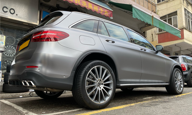 Mercedes Benz X253 GLC and AMG Multispoke wheels and wheels hk and 呔鈴