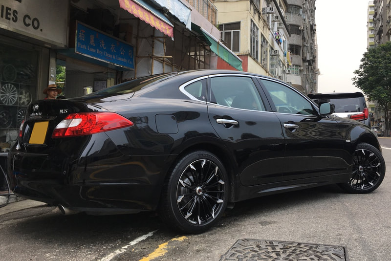 Infiniti M25 and RAYS Versus Stratagia Triaina and wheels hk and 呔鈴