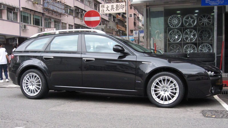alfa romeo 159 and OZ Racing Superturismo GT wheels and wheels hk and 呔鈴