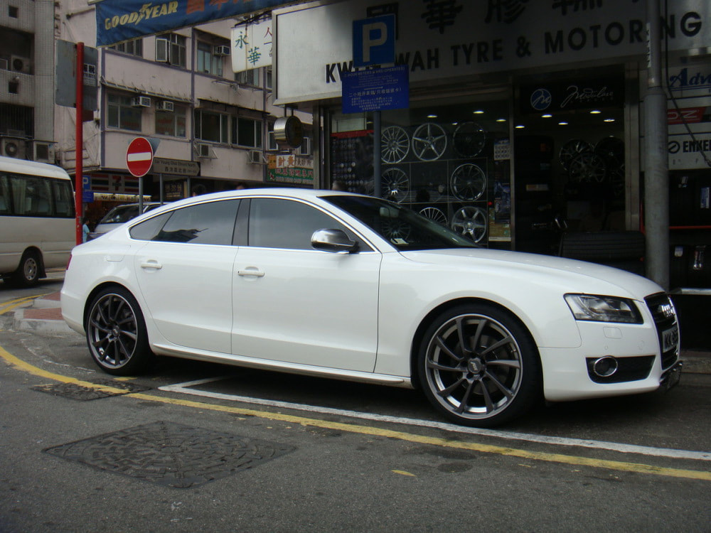 Audi A5 and ABT Sportline DR wheels and wheels hk and 呔鈴