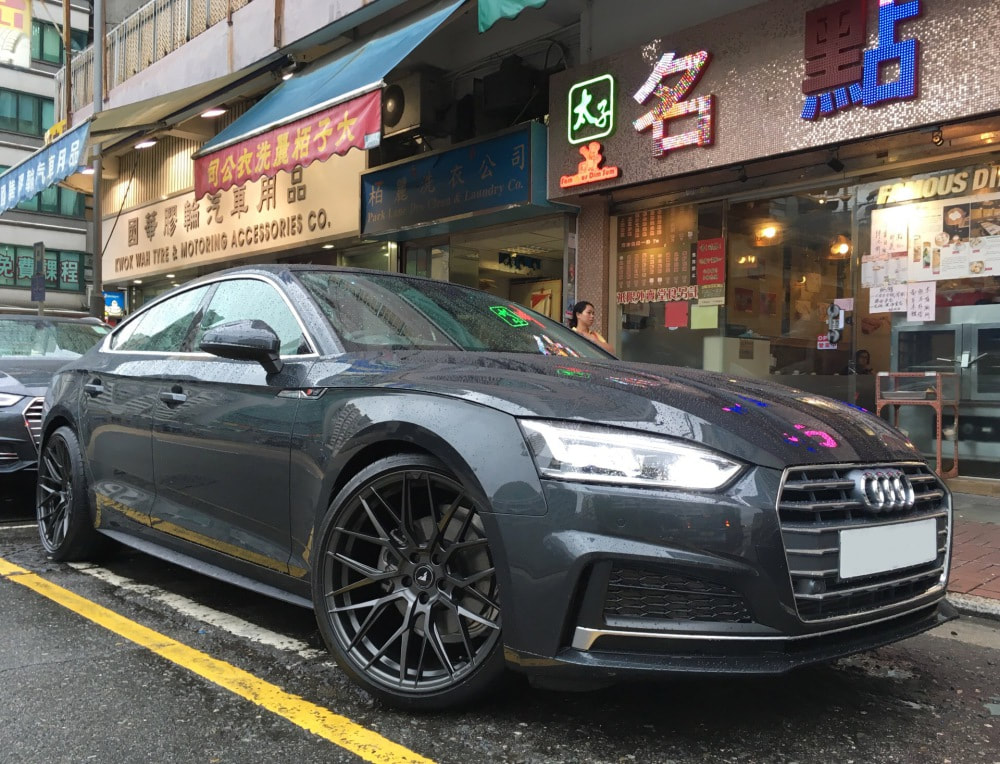 Audi A5 and vorsteiner wheels vff107 and wheels hk and 呔鈴