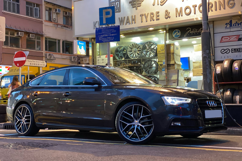 Audi A5 and BBS CCR Wheels and wheels hk and tyre shop and michelin Ps4s tyres