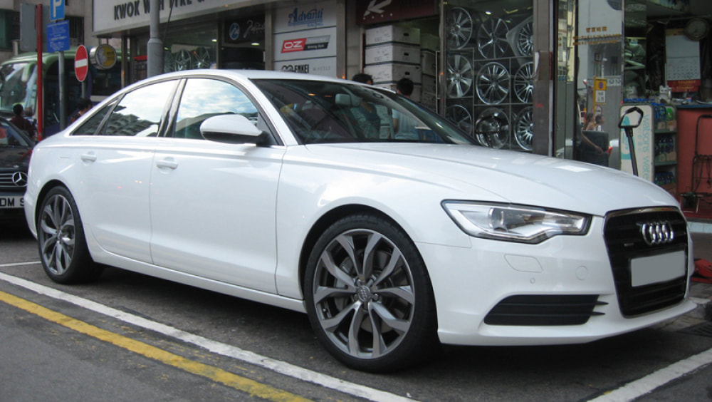 Audi A6 and Audi 10 V Spoke wheels and wheels hk and 呔鈴