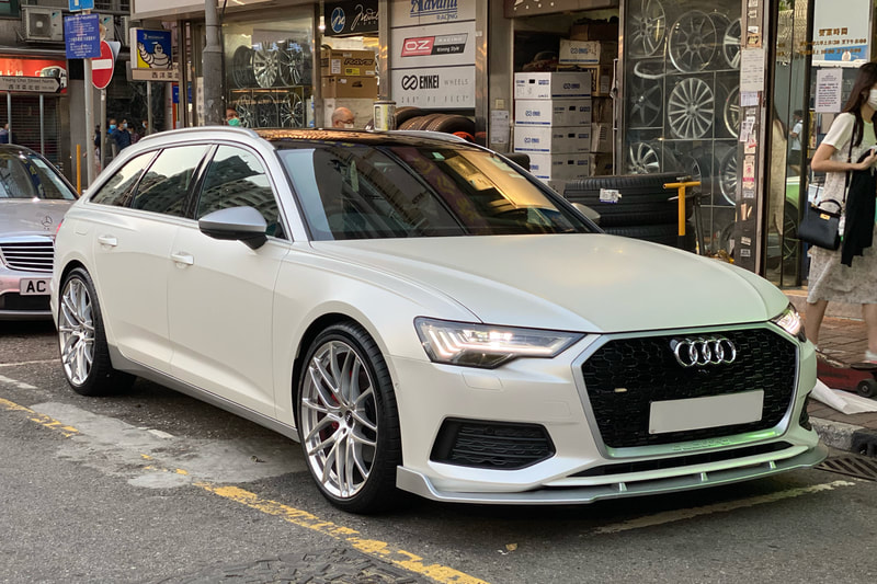 Audi C8 A6 and Breyton Wheels Fascinate and wheels hk and 呔鈴