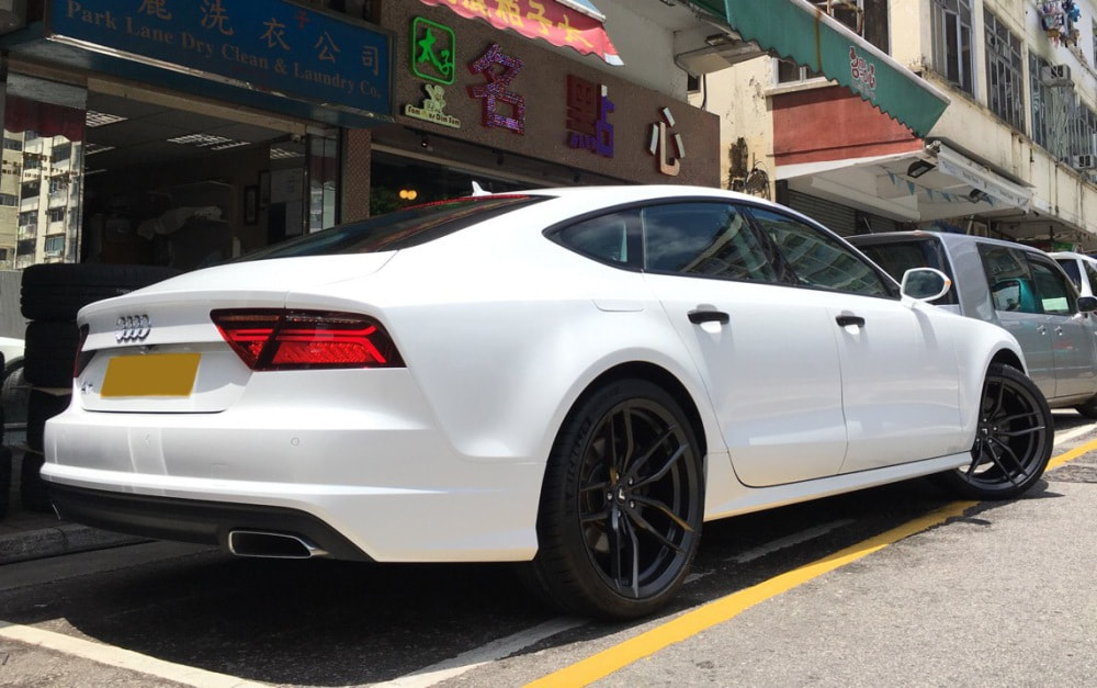 Audi A7 and Vorsteiner Wheels VFF105 and wheels hk and 呔鈴