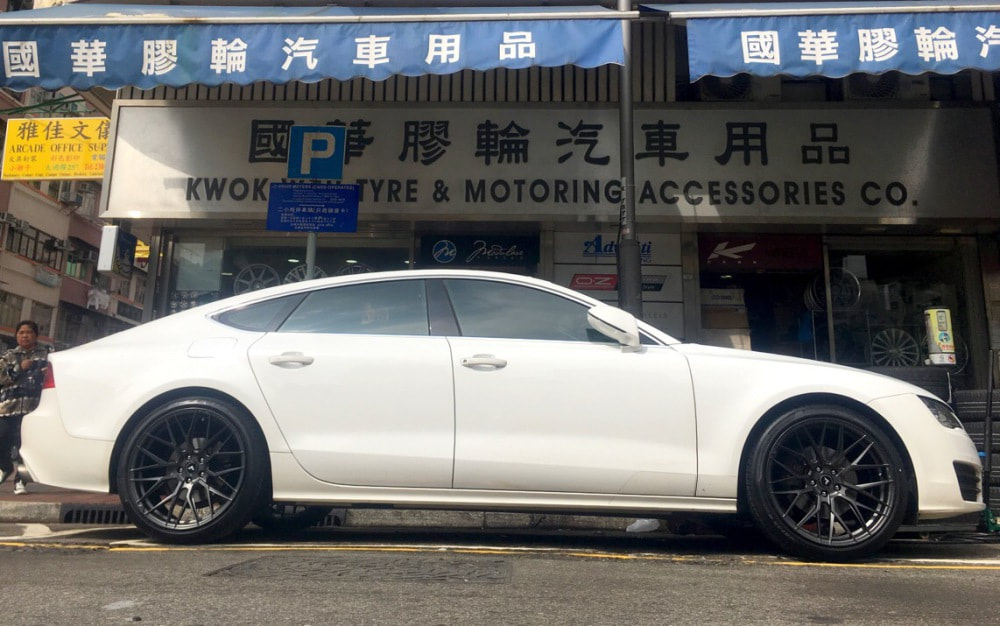 Audi A7 and Vorsteiner Wheels VFF107 and wheels hk and 呔鈴