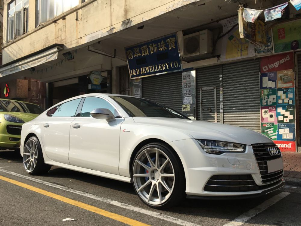 Audi A7 and Modulare Wheels B15 evo B15evo and wheels hk and 呔鈴