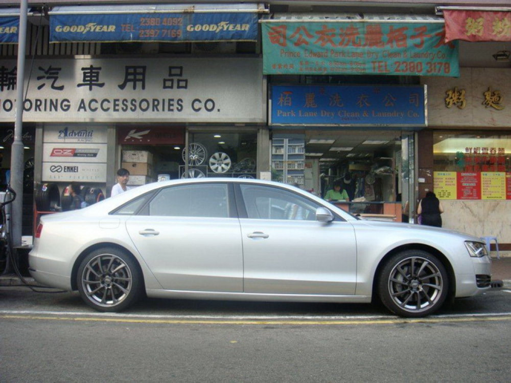 Audi A8 and ABT Sportsline DR wheels and wheels hk and 呔鈴