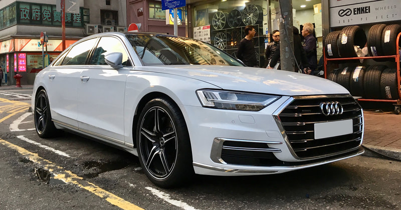 Audi A8 and ABT Sportsline FR wheels and wheels hk and 呔鈴