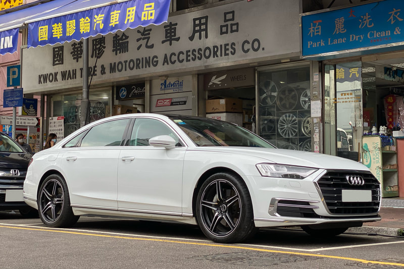 Audi A8 and ABT Sportsline FR Wheels and wheels hk and tyre shop hk and michelin ps4 tyres and 呔鈴