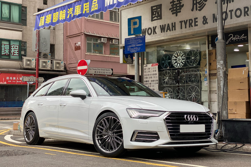 Audi c8 a6 and oz racing gran turismo wheels and tyre shop hk and 呔鈴 and michelin ps4 tyres