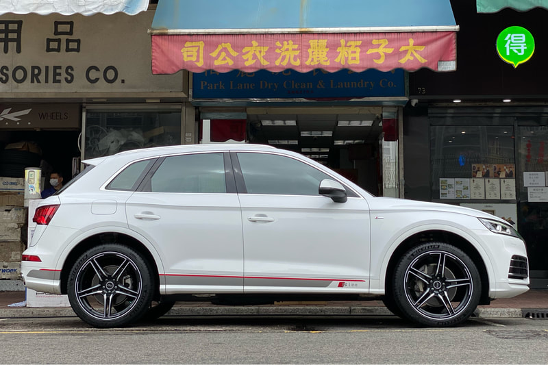 Audi Q5 and ABT Sportsline the FR wheels and wheels hk and 呔鈴 and michelin ps4 suv tyres