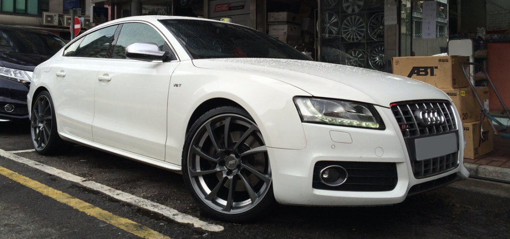 Audi S5 and ABT DR Wheels and wheels hk and 呔鈴