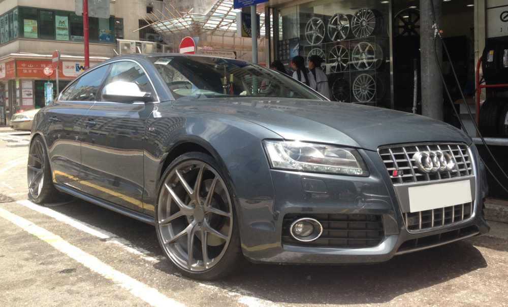 Audi S5 and Modulare Wheels B18 EVO and wheels hk and 呔鈴