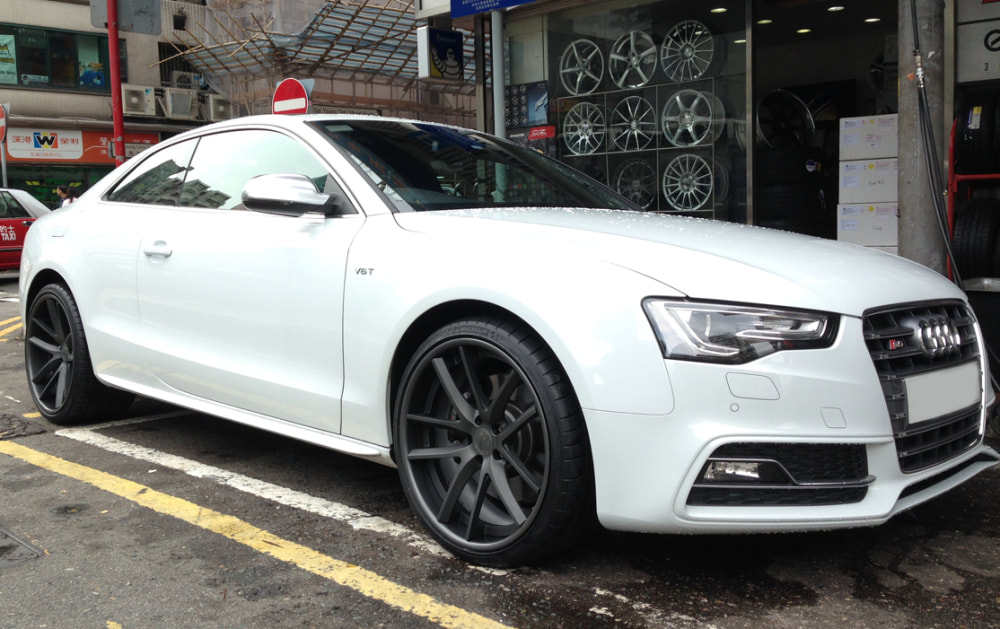 Audi S5 and Modulare Wheels C30-DC and wheels hk and 呔鈴