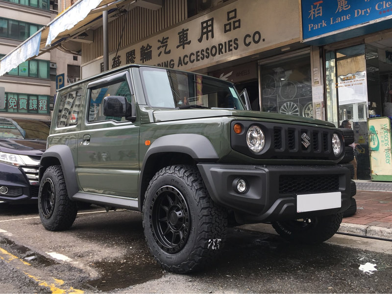 "Suzuki Jimny with 16"" American Racing AR202 Satin Black"