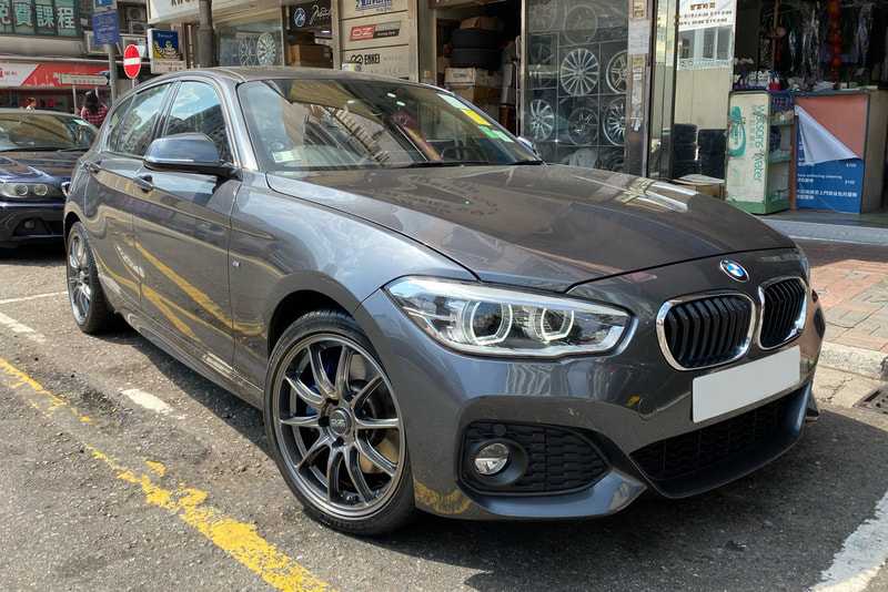 "BMW F20 120i with 18"" OZ Racing Hyper GT HLT Star Graphite"