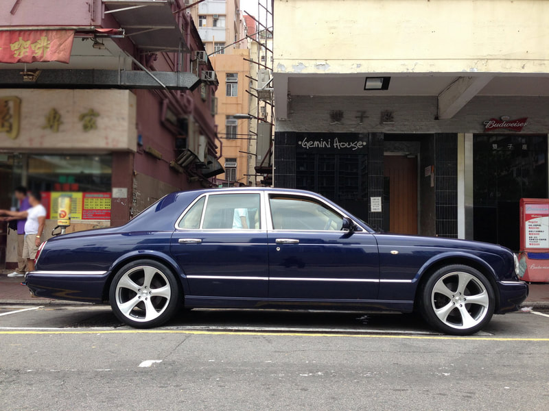 Bentley Arnage and Kahn Design Wheels RSC and 呔鈴 and wheels hk