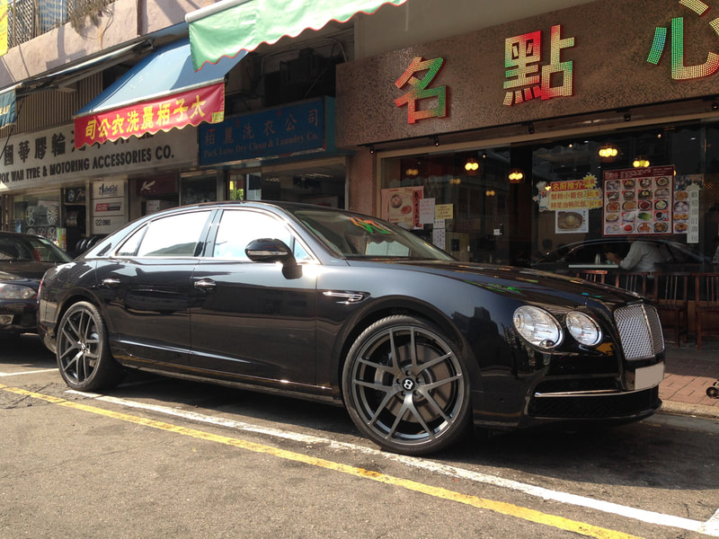 Bentley Continental GT and Modulare Wheels B18 and 呔鈴 and wheels hk