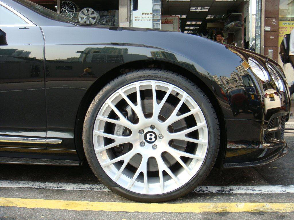 Bentley Continental GT and Modulare Wheels B24 and 呔鈴 and wheels hk