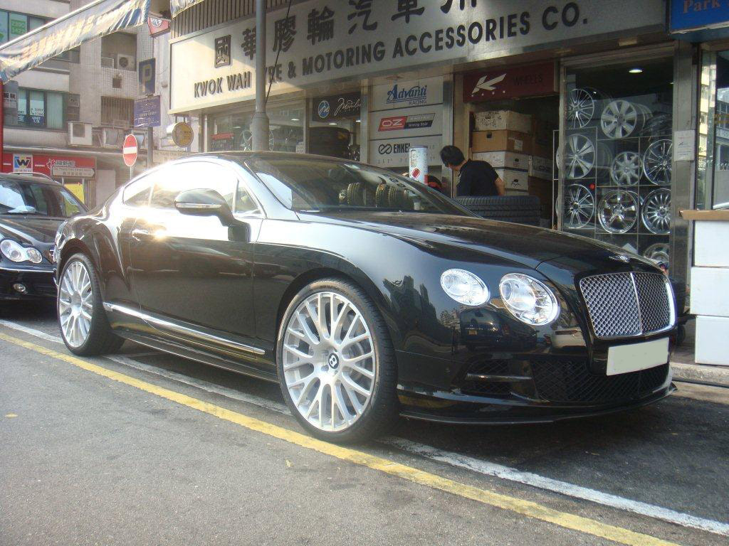 Bentley Continental GT and Modulare Wheels B24 and 呔鈴