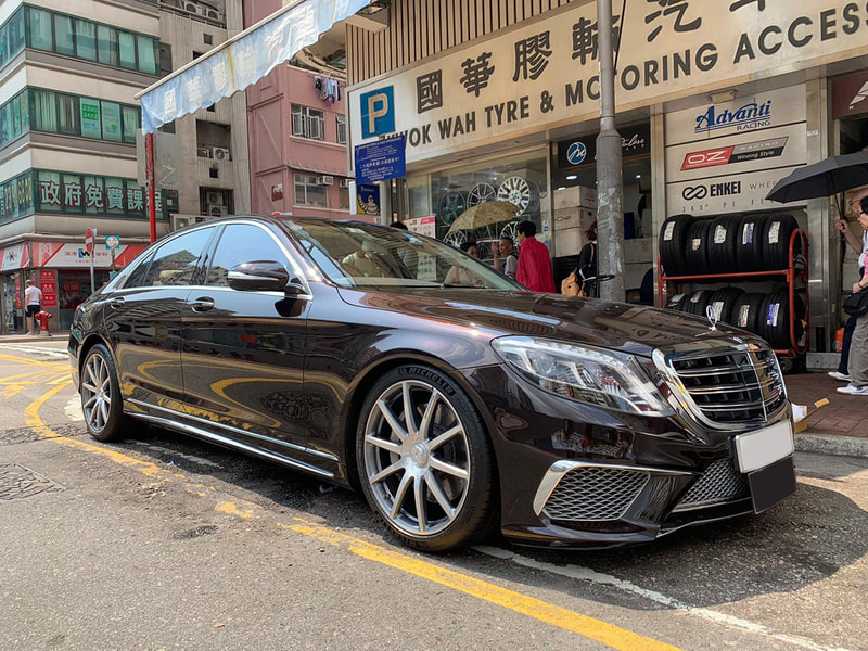 mercedes benz w222 s500 and amg forged wheels and wheels hk and tyre shop hk