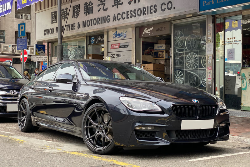 BMW F06 6 Series and Vorsteiner Wheels VFF103 and wheels hk and 呔鈴