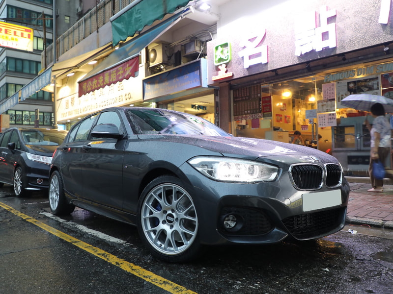 "BMW F20 1 Series with 18"" BBS CH-R Brilliant Silver"