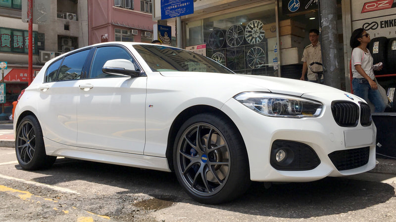 "BMW F20 1 Series with 18"" BBS RI-A Matt Gun"
