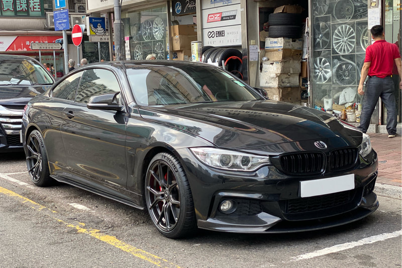 BMW F32 4 Series sand Vorsteiner Wheels VFF103 and Michelin PS4S tyres and wheels hk and 呔鈴