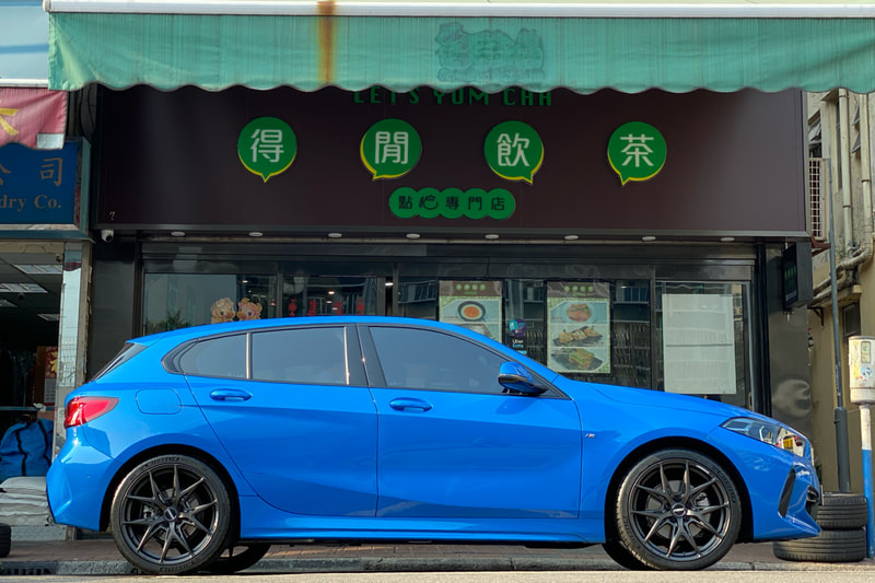 BMW F40 1 Series 118i and RAYS VV21S Wheels and tyre shop hk and michelin ps4s tyres and 呔鈴