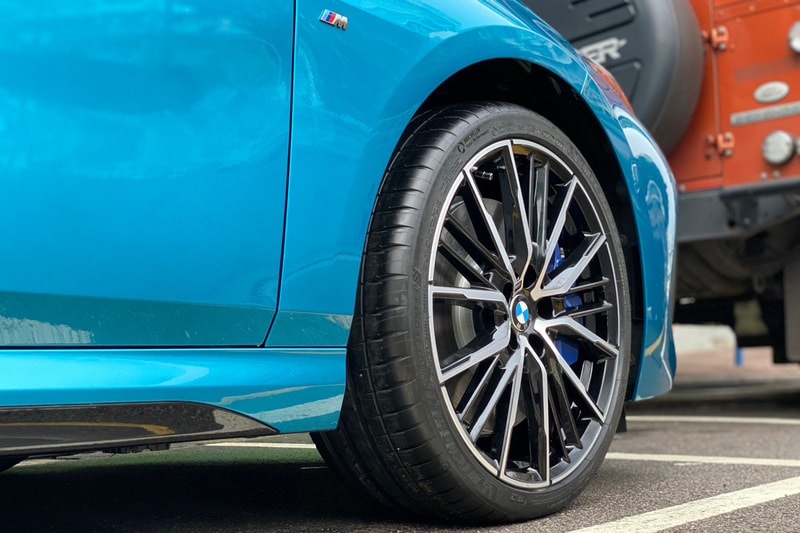 BMW F40 1 series and 552M Wheels and wheels hk and 呔鈴 and 寶馬1系 and bmw f40 wheels and bmw f44 wheels and bmw 2 series wheels