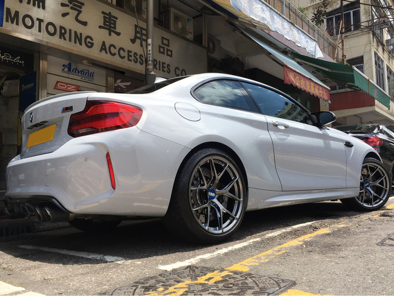 BMW F87 M2 Competition and BBS FI-R Diamond Black Wheels and wheels hk and 呔鈴
