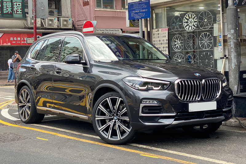 BMW G05 X5 and BMW 746I Individual Wheels and wheels hk and tyre shop hk and 呔鈴 and pirelli pz4 tyres
