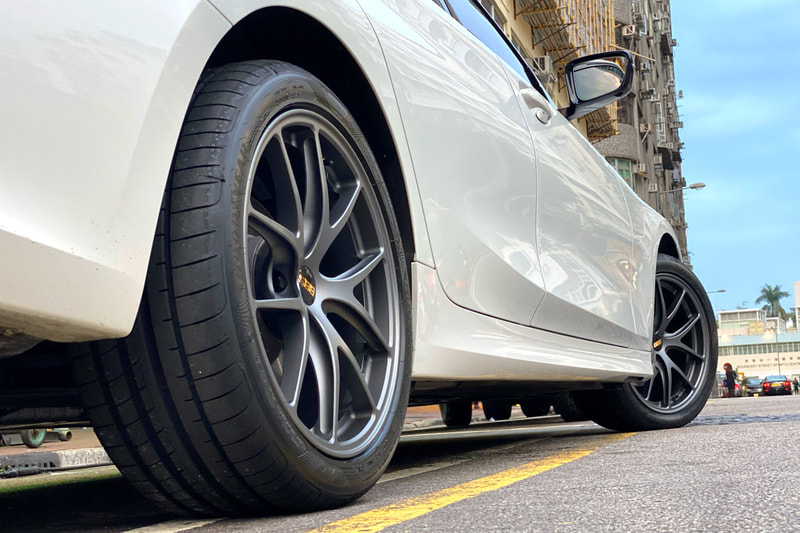 BMW G20 3 Series 320i and BBS RIA Wheels and tyre shop hk and Goodyear F1A5 tyre hk and 呔鈴
