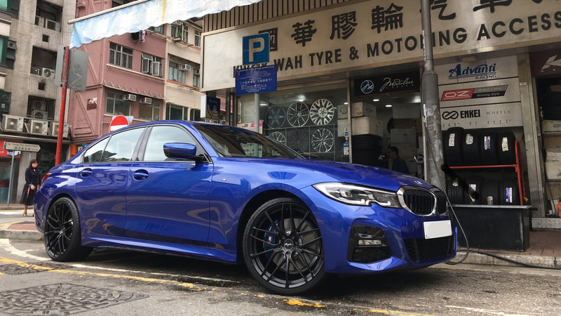 "BMW G20 330i M with 20"" Breyton Fascinate Matt Black"