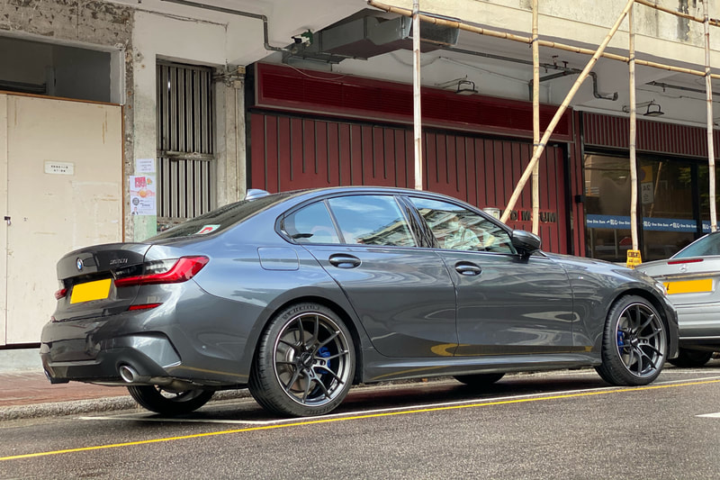 BMW G20 3 Series and RAYS Volk Racing G025 and wheels hk and 呔鈴 and michelin ps4s tyres