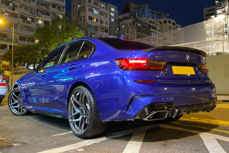 BMW G20 3 Series and Breyton Magnetite Wheels and wheels hk and 呔鈴