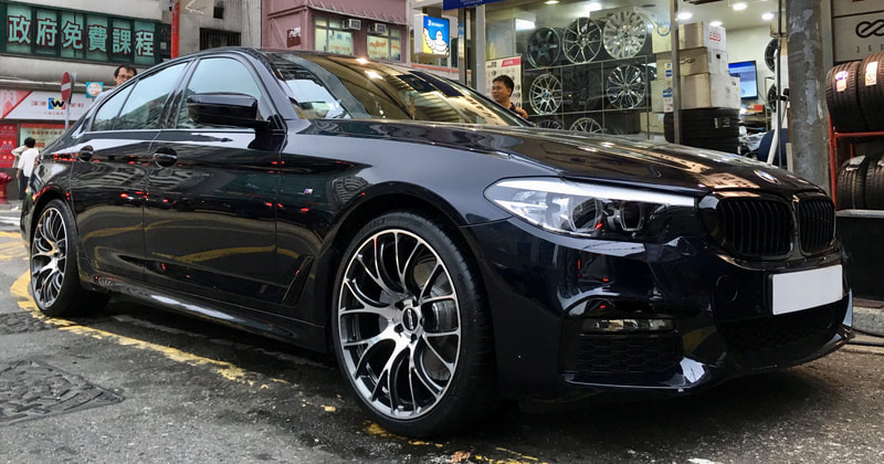BMW G30 5 Series and RAYS Volk Racing G16 Wheels and wheels hk and 呔鈴