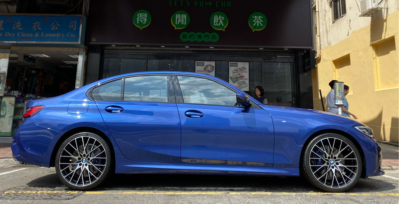 BMW G20 330i and BMW 794M Wheels and wheels hk and 呔鈴