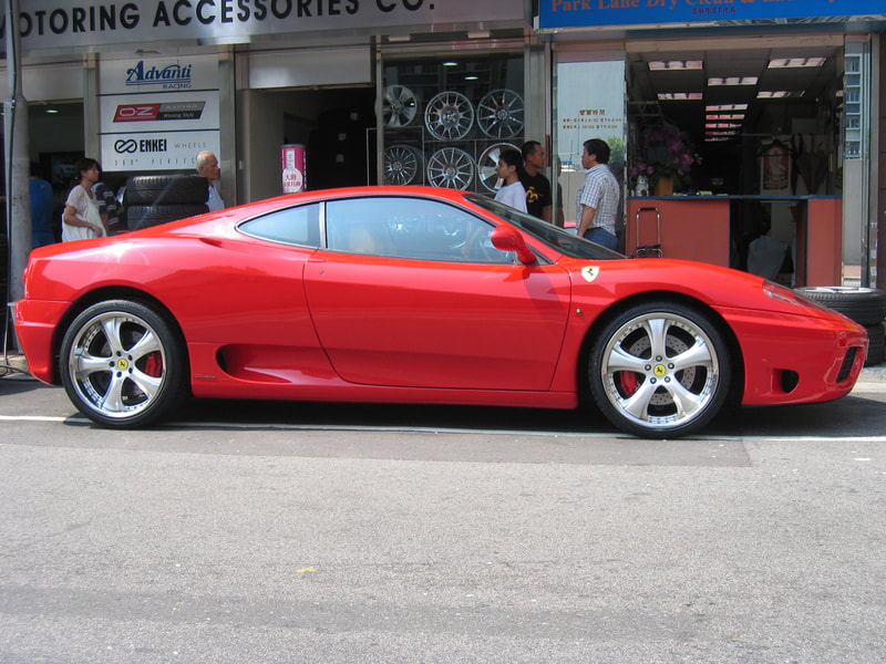 Ferrari 360 and Kahn Design RSC2 Wheels and 呔鈴 and wheels hk