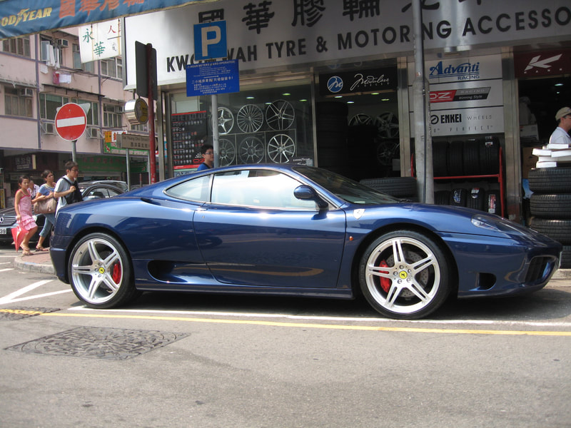Ferrari 430 and HRE wheels P47SC and 呔鈴 and wheels hk