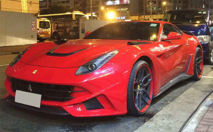 Ferrari F12 and Novitec wheels Ferrari California and Modulare Wheels B31 and 呔鈴