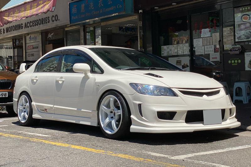 honda civic type r and honda fd2 and advan tc4 wheels and wheels hk and tyre shop hk and bridgestone tyres and 呔鈴