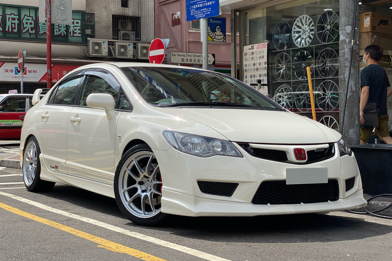 honda fd2 civic type r and enkei racing pf01 wheels and wheels hk and tyre shop hk and 呔鈴