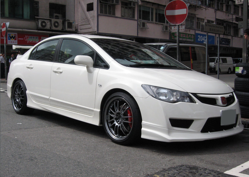 Honda FK2 CIVIC Type R and RAYS Volk Racing RE30 Wheels and 呔鈴 and wheels hk