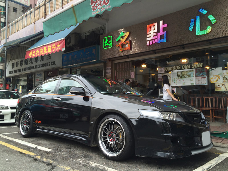 Honda Euro R and RAYS Volk Racing RE30 Wheels and 呔鈴 and wheels hk