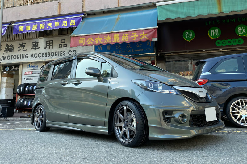 Honda Freed and Enkei Racing PF07 Wheels and wheels hk and 呔鈴